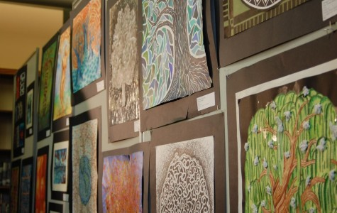 From library to gallery: the AP Art show gives the library a makeover