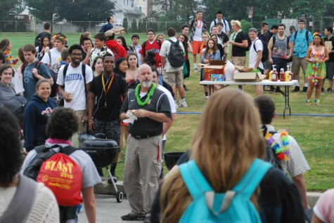Seniors pull annual prank with beachy luau
