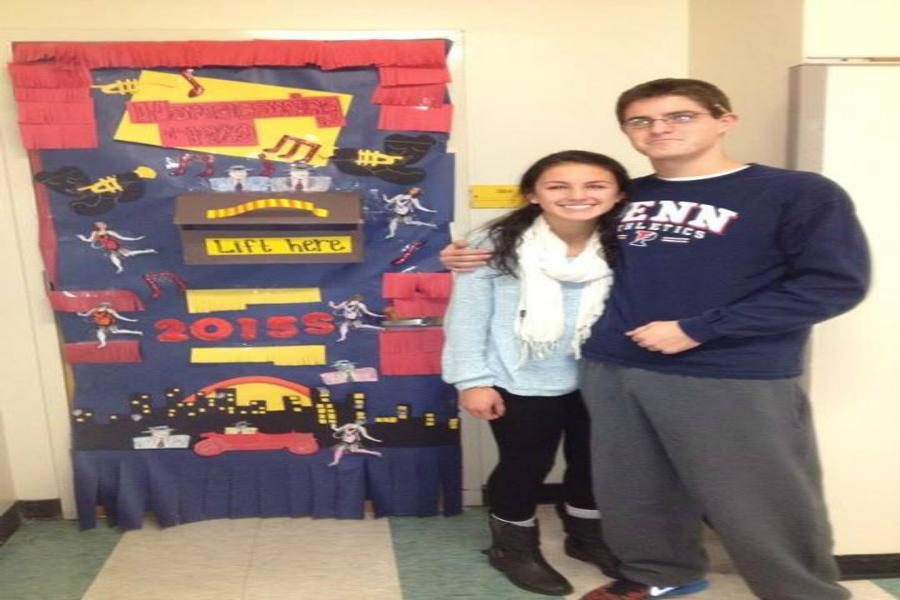 Sophie Gordon and Austin Yayer, juniors in Ms. Stadnicki's homeroom, celebrated their 1st place win.