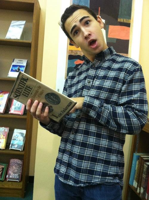 Samuel Weiner (junior) shows off his knowledge of obscure history, one of the many characteristics of a