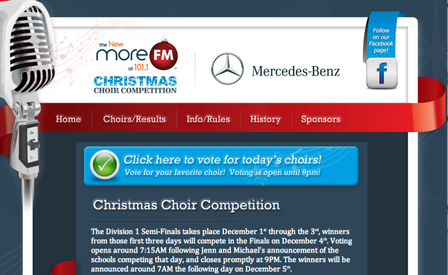 Seventh Heaven takes third place in More FM 101 Christmas Choir Competition