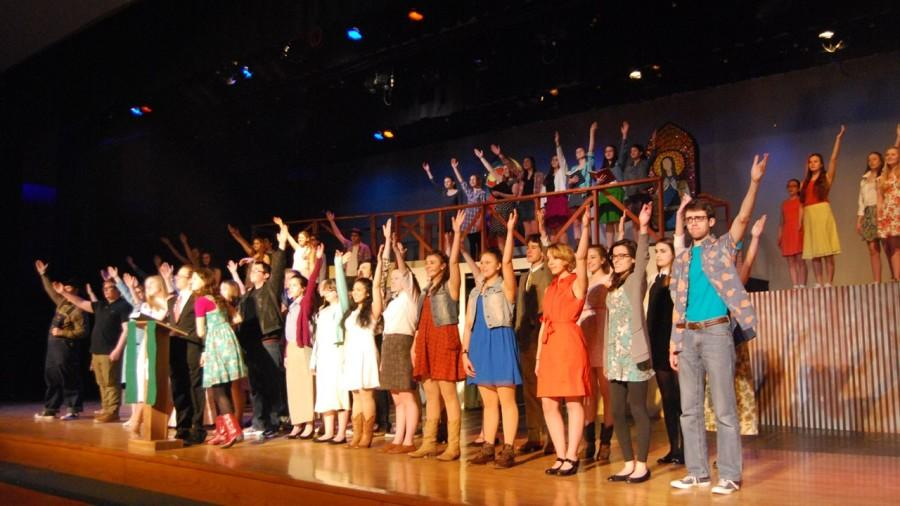 Monday after school marked the beginning of the home stretch until the show, as the full cast started the long series of run-throughs which will dominate rehearsal time from now until the curtains open.