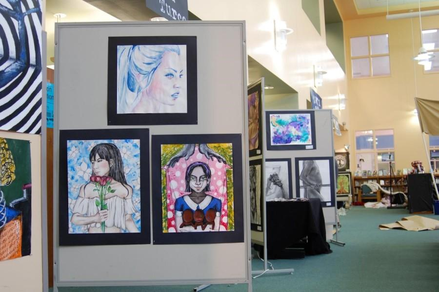 The AP Art show has given the Library a fabulous makeover! Check it out tomorrow night.