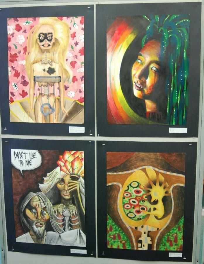 The AP Art show is the year long culmination of the AP Art class and the hard work students have put in since the summer.