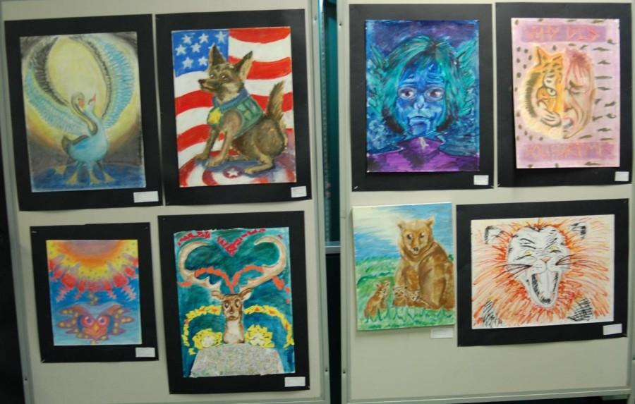 A preview of Senior Roxanne Datko's artwork inspired by animals and nature.