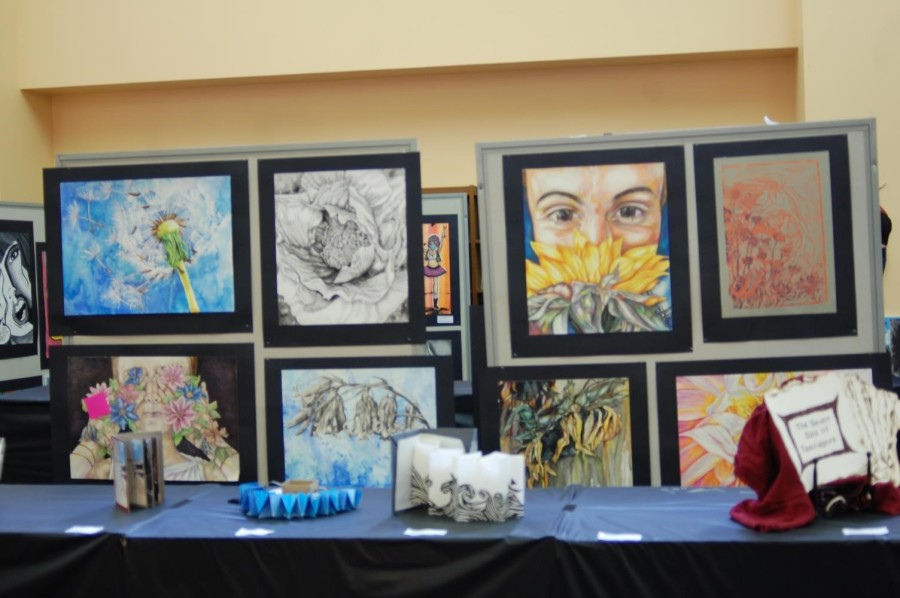 A look at some of the art at the show by Junior Emma Kellor. See Emma's art in person at the show!