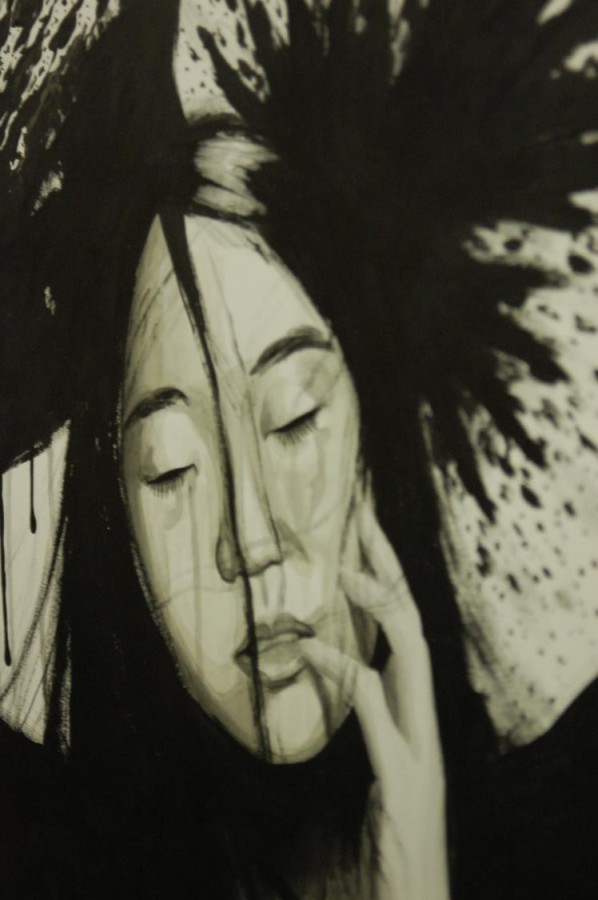 A look at a stunning work of art by Senior Chris Lee. See more art of this caliber at the show.