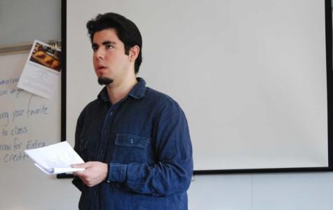David Escobar-Martin slams down verses with visit to Creative Writing class