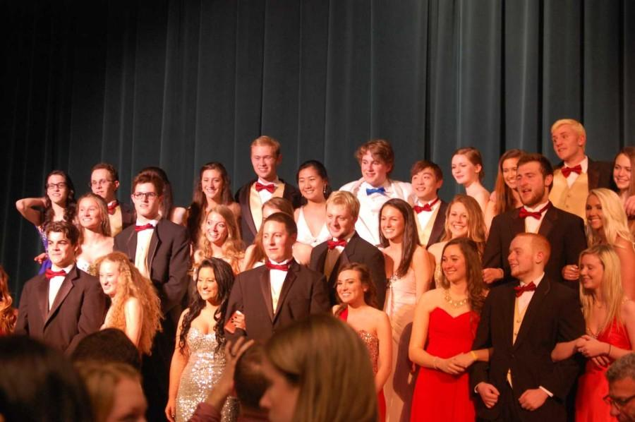 All of the contestants and escorts of Mr. Haverford at the end when announcements of winners were made.