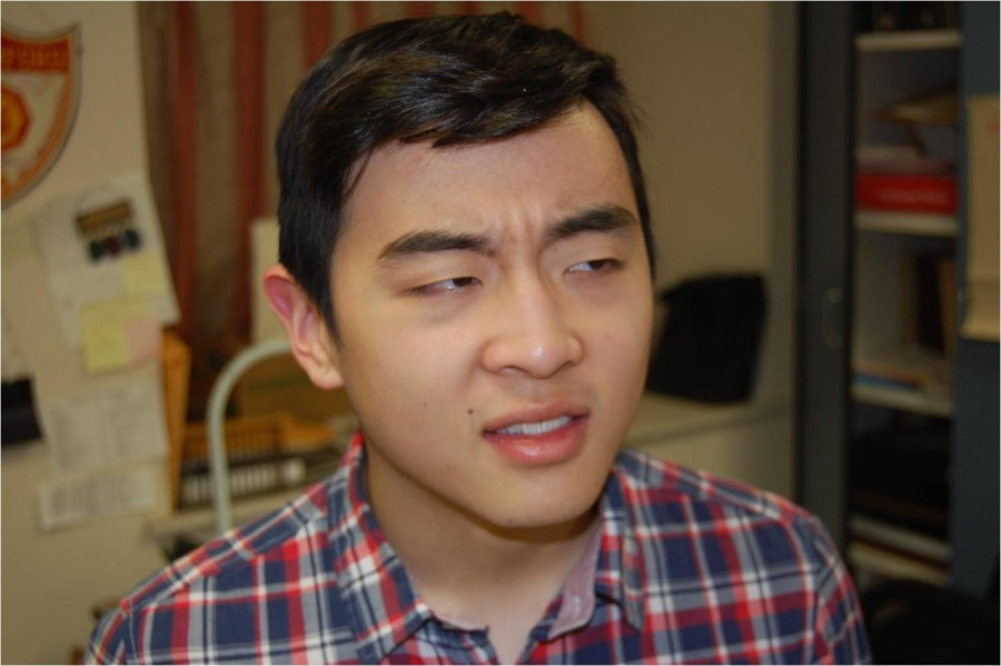 Senior Chris Lee hears someone off in the distance singing a note...flat. Intonation people, intonation.