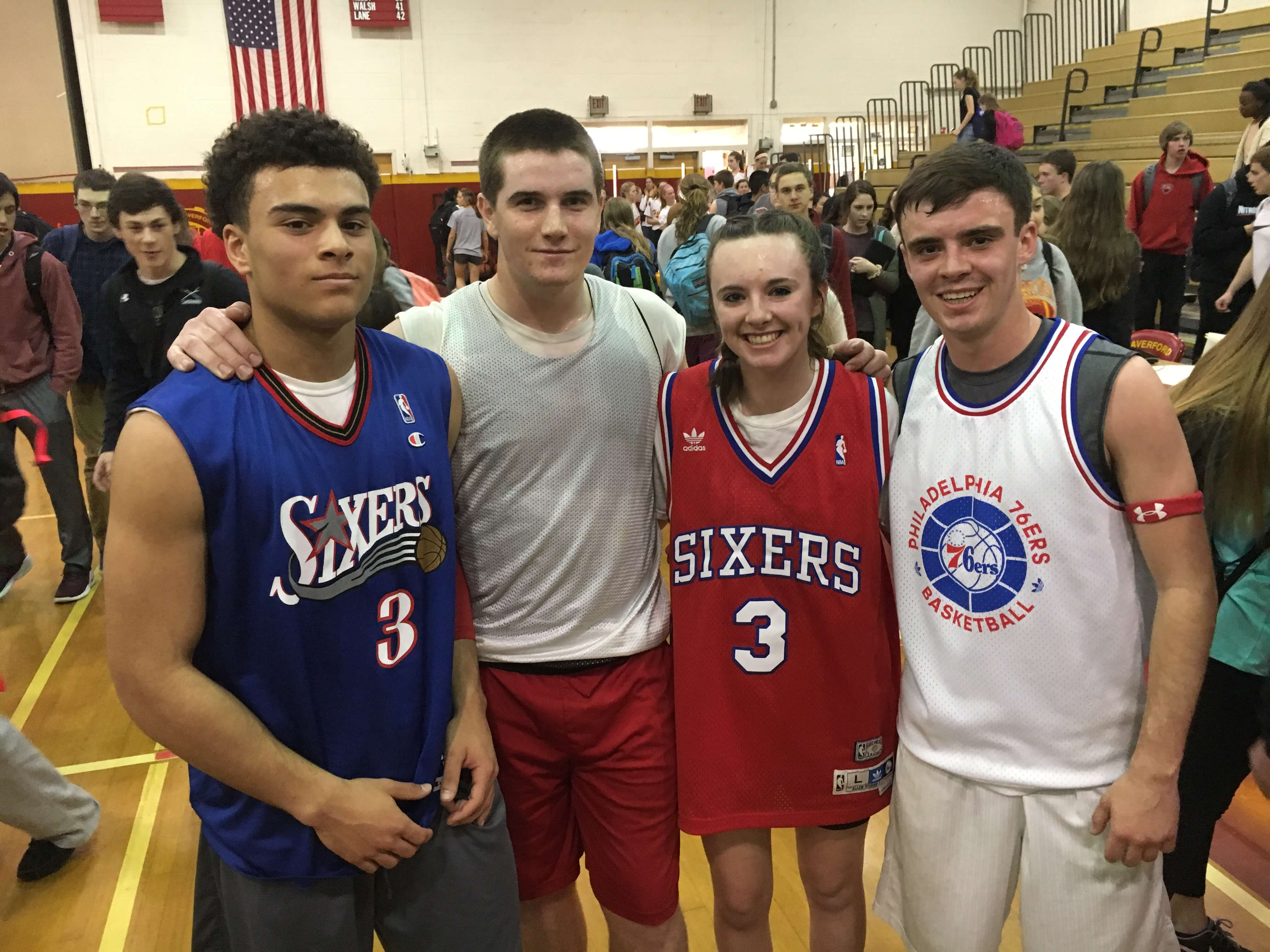 2017 winners, (from left) Trey Blair, Jack Farrell, Erin Kelly, and Steve Kelly.
