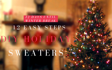 WINTER BREAK COUNTDOWN: 12 Easy Steps to Making Your Own DIY Ugly Holiday Sweater