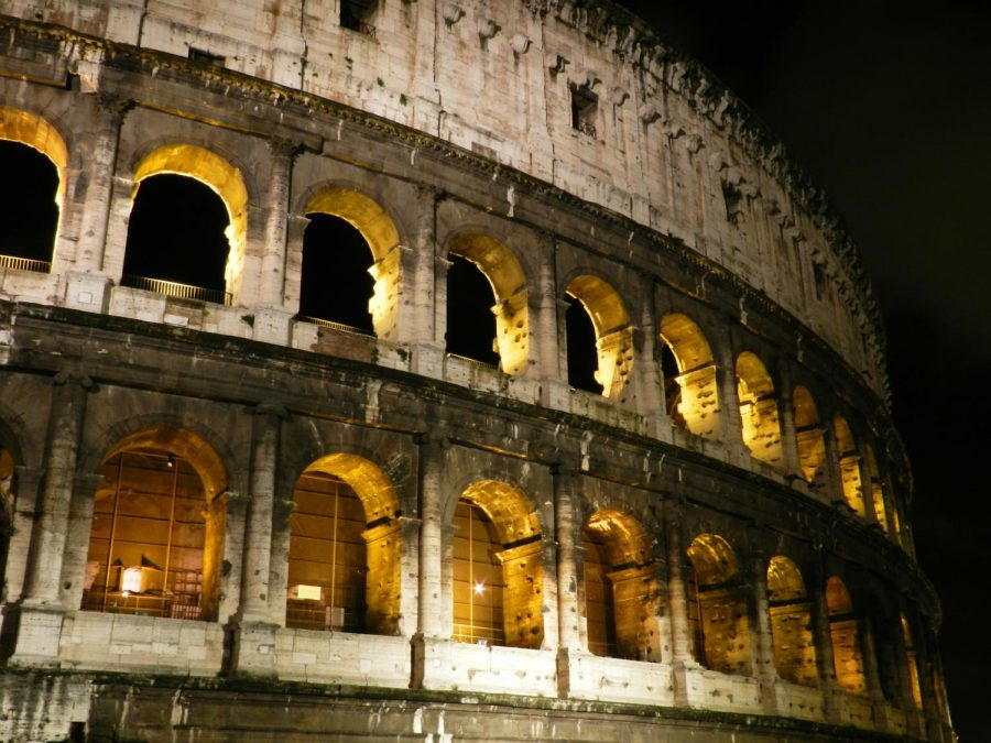 The+Colosseum%2C+an+amphitheater+located+in+Rome%2C+Italy%2C+is+the+symbol+of+Imperial+Rome.++