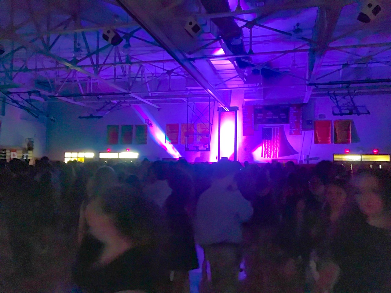 Haverford High School students dance in the Juenger Gymnasium on homecoming night.