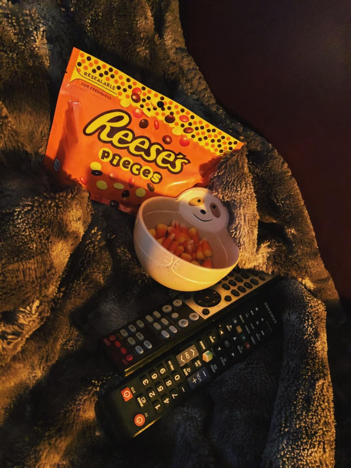 Find a Halloween movie to watch, grab some candy, and enjoy.