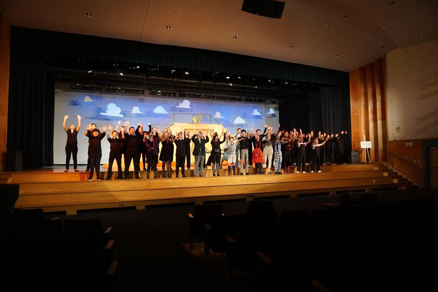 The cast of Haverford Drama Club's