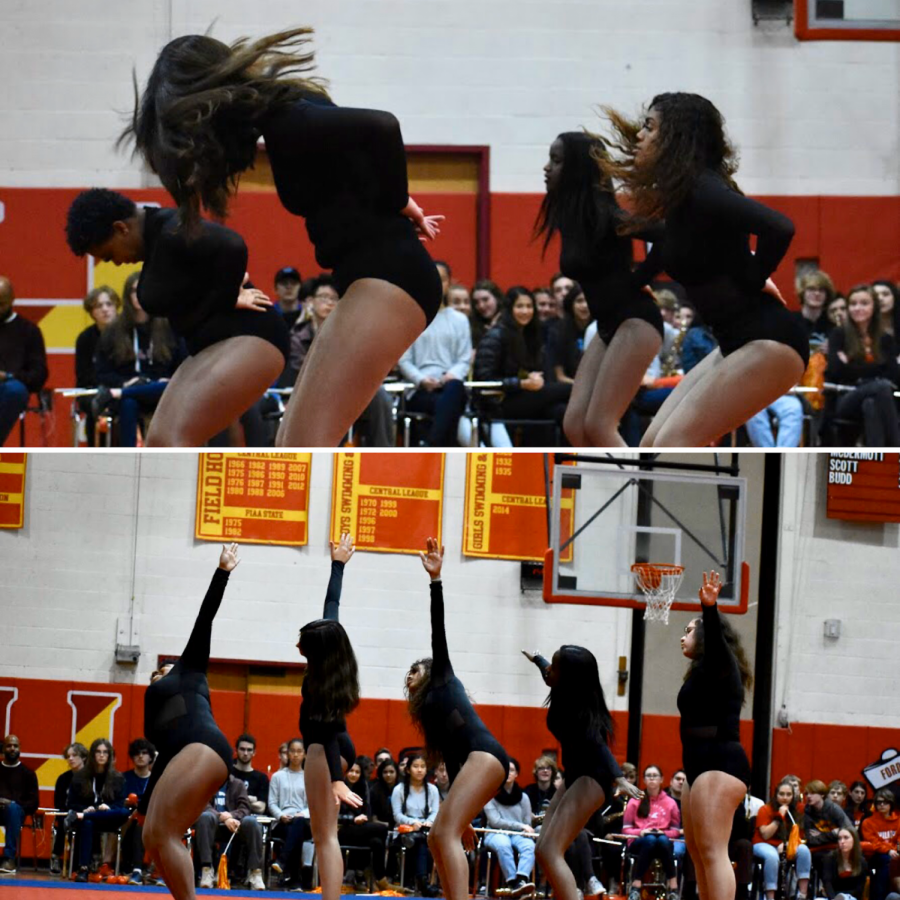 Put Your Hands Up! Haverford's Uniquely Golden Dance Team performs to hit songs, such as Beyonce's