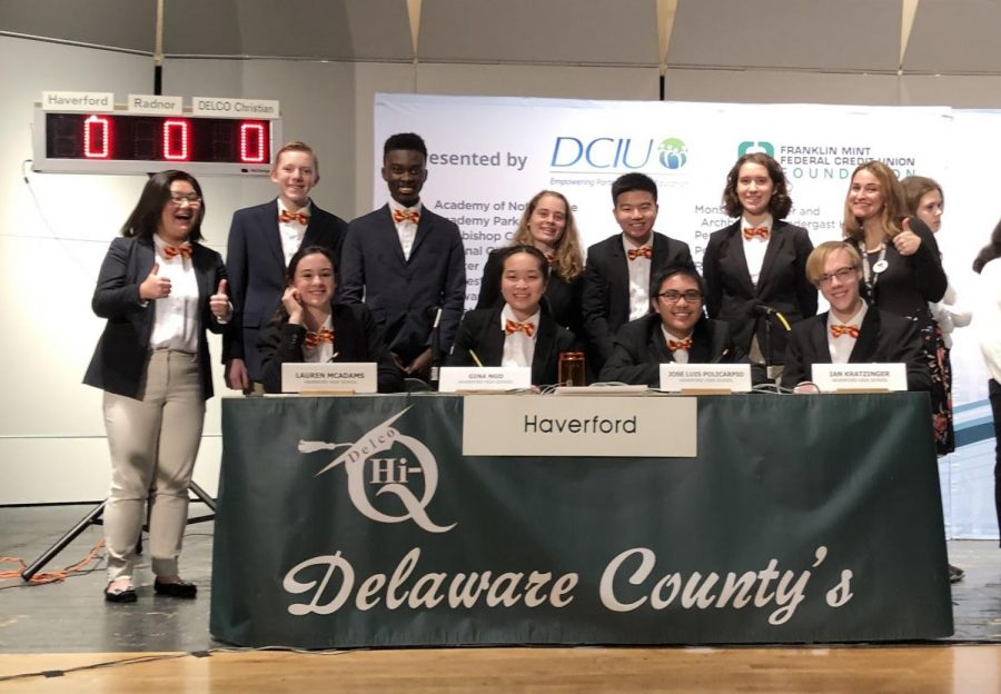Haverford's Hi-Q Team Advances to Semi-Finals After Securing a Home Victory