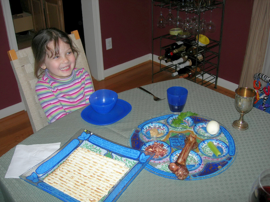 A+younger%2C+gleeful+Sophia+Khan+awaits+her+favorite+dish%2C+Matzah+Ball+Soup.