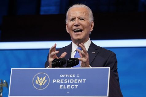 Biden speaks after the Electoral College formally elected him as President of the United States.