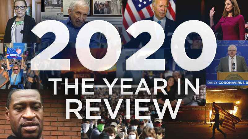 2020 was characterized by historic events including the death of Ruth Bader Ginsburg, Biden winning the presidential election, the appointment of Amy Coney Barrett to the Supreme Court, the death of George Floyd, and protests across the nation.