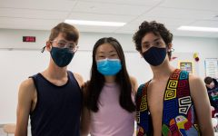 Showing off their shoulders, Juniors Remy Dufresne, Jean Park, and Finn Schwartz join their classmates in demanding a more stylish, comfortable dress code.